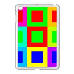 Colors Purple And Yellow Apple Ipad Mini Case (white)