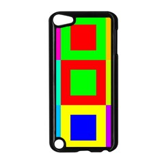 Colors Purple And Yellow Apple Ipod Touch 5 Case (black)