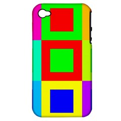 Colors Purple And Yellow Apple Iphone 4/4s Hardshell Case (pc+silicone)