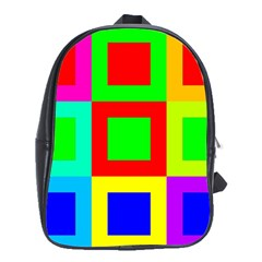 Colors Purple And Yellow School Bags (xl)