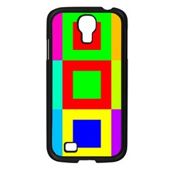Colors Purple And Yellow Samsung Galaxy S4 I9500/ I9505 Case (black)