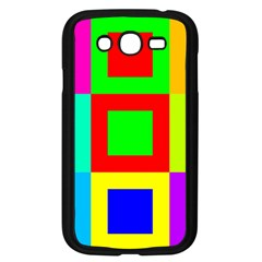 Colors Purple And Yellow Samsung Galaxy Grand Duos I9082 Case (black)