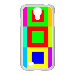 Colors Purple And Yellow Samsung Galaxy S4 I9500/ I9505 Case (white)