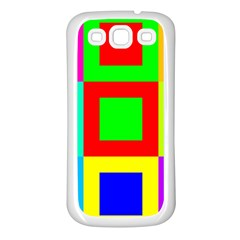 Colors Purple And Yellow Samsung Galaxy S3 Back Case (white)