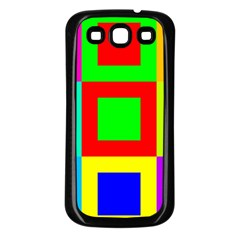 Colors Purple And Yellow Samsung Galaxy S3 Back Case (black)