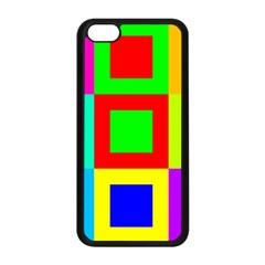 Colors Purple And Yellow Apple Iphone 5c Seamless Case (black)