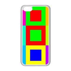Colors Purple And Yellow Apple Iphone 5c Seamless Case (white)