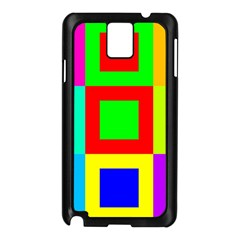 Colors Purple And Yellow Samsung Galaxy Note 3 N9005 Case (black)