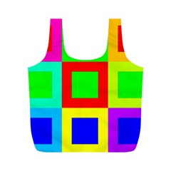 Colors Purple And Yellow Full Print Recycle Bags (m)