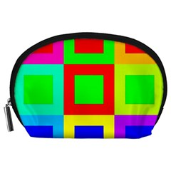 Colors Purple And Yellow Accessory Pouches (large)