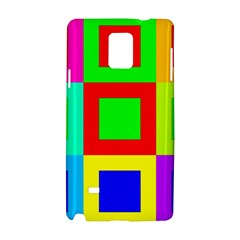 Colors Purple And Yellow Samsung Galaxy Note 4 Hardshell Case