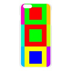 Colors Purple And Yellow Apple Seamless iPhone 6 Plus/6S Plus Case (Transparent)
