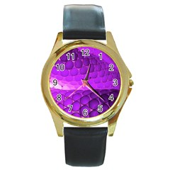 Circular Color Round Gold Metal Watch