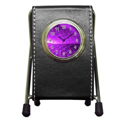 Circular Color Pen Holder Desk Clocks