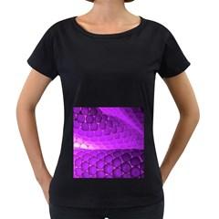 Circular Color Women s Loose Fit T Shirt (black)