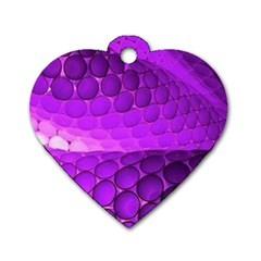 Circular Color Dog Tag Heart (one Side)