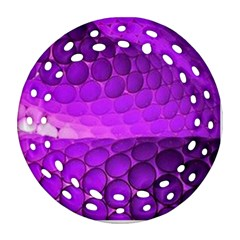 Circular Color Round Filigree Ornament (two Sides)