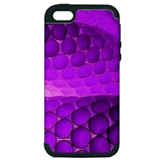 Circular Color Apple Iphone 5 Hardshell Case (pc+silicone)