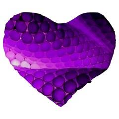 Circular Color Large 19  Premium Flano Heart Shape Cushions