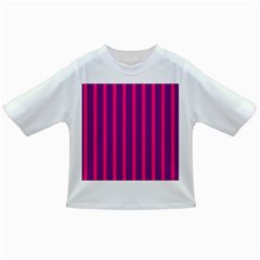Deep Pink And Black Vertical Lines Infant/toddler T Shirts