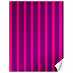 Deep Pink And Black Vertical Lines Canvas 12  x 16
