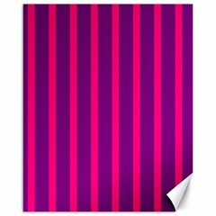 Deep Pink And Black Vertical Lines Canvas 16  X 20