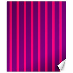 Deep Pink And Black Vertical Lines Canvas 20  X 24