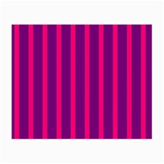 Deep Pink And Black Vertical Lines Small Glasses Cloth (2 Side)