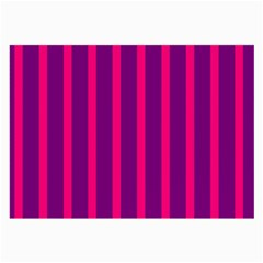Deep Pink And Black Vertical Lines Large Glasses Cloth