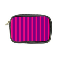 Deep Pink And Black Vertical Lines Coin Purse