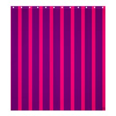 Deep Pink And Black Vertical Lines Shower Curtain 66  X 72  (large)