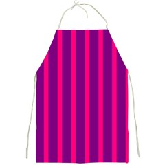 Deep Pink And Black Vertical Lines Full Print Aprons