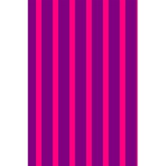 Deep Pink And Black Vertical Lines 5 5  X 8 5  Notebooks