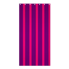 Deep Pink And Black Vertical Lines Shower Curtain 36  X 72  (stall)