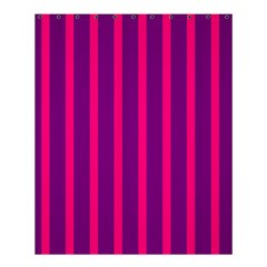 Deep Pink And Black Vertical Lines Shower Curtain 60  X 72  (medium)