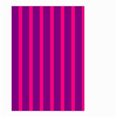 Deep Pink And Black Vertical Lines Small Garden Flag (two Sides)