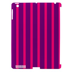 Deep Pink And Black Vertical Lines Apple Ipad 3/4 Hardshell Case (compatible With Smart Cover)