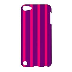 Deep Pink And Black Vertical Lines Apple Ipod Touch 5 Hardshell Case