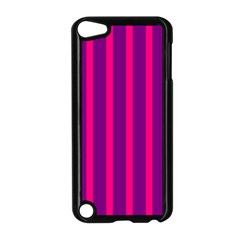 Deep Pink And Black Vertical Lines Apple Ipod Touch 5 Case (black)