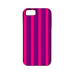 Deep Pink And Black Vertical Lines Apple Iphone 5 Classic Hardshell Case (pc+silicone)