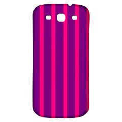 Deep Pink And Black Vertical Lines Samsung Galaxy S3 S Iii Classic Hardshell Back Case