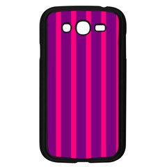 Deep Pink And Black Vertical Lines Samsung Galaxy Grand Duos I9082 Case (black)