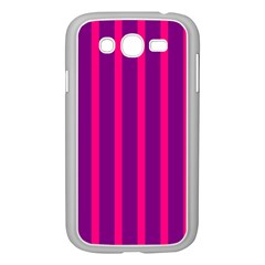 Deep Pink And Black Vertical Lines Samsung Galaxy Grand Duos I9082 Case (white)