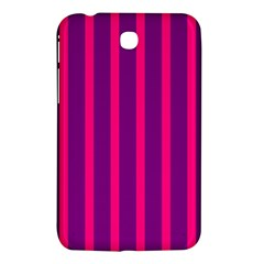 Deep Pink And Black Vertical Lines Samsung Galaxy Tab 3 (7 ) P3200 Hardshell Case