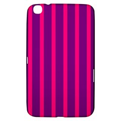 Deep Pink And Black Vertical Lines Samsung Galaxy Tab 3 (8 ) T3100 Hardshell Case