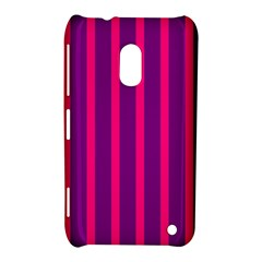 Deep Pink And Black Vertical Lines Nokia Lumia 620