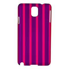 Deep Pink And Black Vertical Lines Samsung Galaxy Note 3 N9005 Hardshell Case