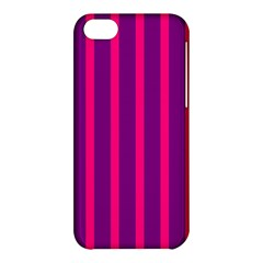 Deep Pink And Black Vertical Lines Apple Iphone 5c Hardshell Case