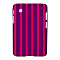 Deep Pink And Black Vertical Lines Samsung Galaxy Tab 2 (7 ) P3100 Hardshell Case