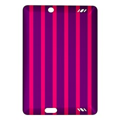 Deep Pink And Black Vertical Lines Amazon Kindle Fire Hd (2013) Hardshell Case